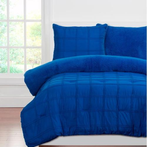 """Playful Plush Blue Berry Blue"" Crayola Comforter Sets Twin"