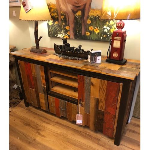 Authentic Reclaimed Barnwood Entertainment Console. Made in America.