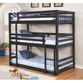 See Details - Dallas Triple Bunkbed Charcoal