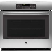 "GE 5.0CF Stainless Steel 30"" Single Wall Oven with Steam/Self Clean"