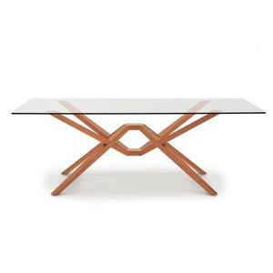 EXETER GLASS TOP TABLES IN CHERRY