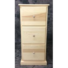 See Details - Maine Made 3 DR File Cabinet 20W X 44H X 22D Pine Unfinished