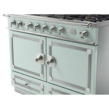 CornuFe 110 Dual Fuel Range - Suzanne Kazler Couleurs - Tapestry with Stainless Steel and Polished Chrome Trim