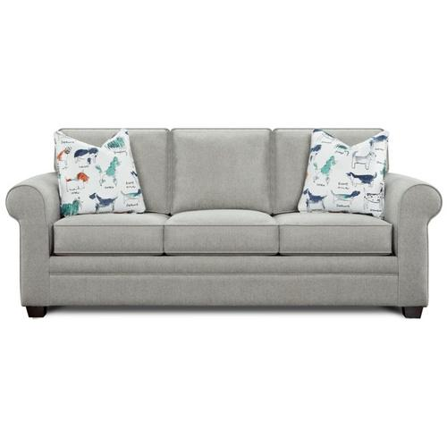 Fusion Furniture - Twin Size Sleeper in Popstich Pebble Fabric with Puppy Parade Pillows