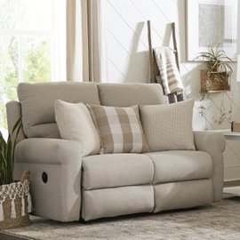 Happy Place Lay Flat Reclining Loveseat Cement