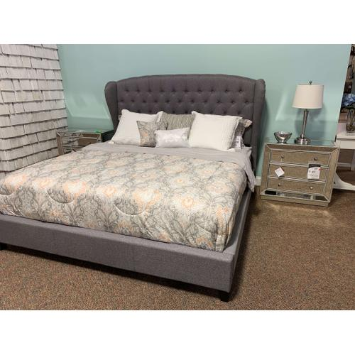 Bromley King Upholstered Bed - Dove Grey