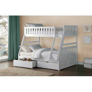 Galen Bunk Bed Twin on Full with Storage Drawers
