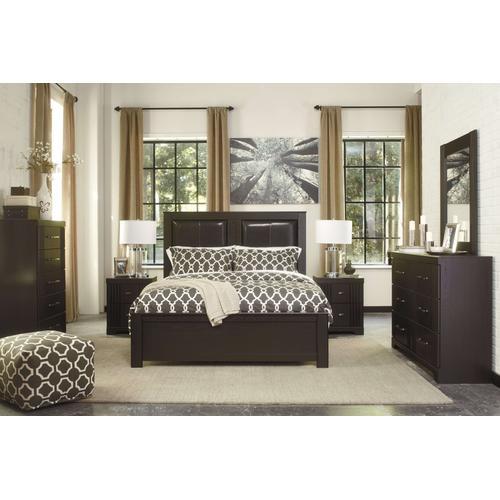 Ashley Furniture - Ashley Furniture B146 Tadlyn - Dark Brown Bedroom Set Houston Texas USA.
