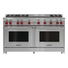 60'' Gas Range - 6 Burners and Infrared Dual Griddle