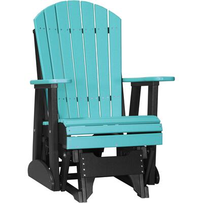 Adirondack Glider 2' Aruba Blue and Black