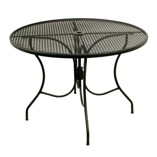 Meadowcraft - Glenbrook Round Mesh Patio Dining Table