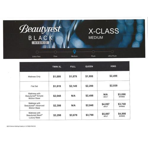 Beautyrest Black Hybrid - X-Class - Medium - Queen