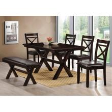 6 Piece X-Base Dining Room Set