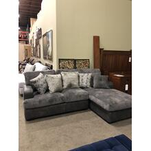 Grey two tone Sofa w/ Chaise $1399--Pillows included