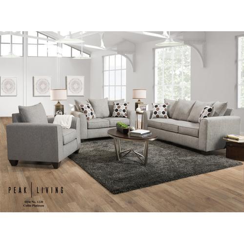 1220 Collin Platinum Sofa Only