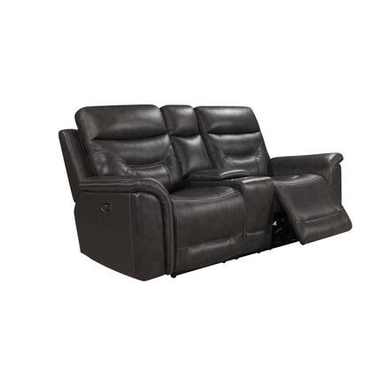 Bullard 100% Genuine Leather Sofa & Loveseat w/ Power Recliner