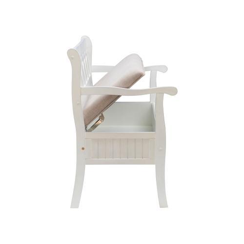 Winslett Storage Bench - White