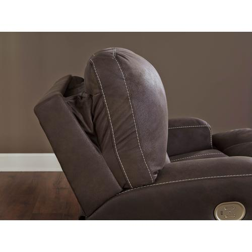 Kitching Power Recliner and a Half with Adjustable Headrest