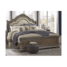 Charmond - Brown - Queen Upholstered Sleigh Bed