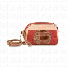 PUNCTURED BAG (RED/BEIGE/GOLD BROWN)