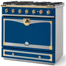 Royal Blue Albertine 90 with Polished Brass Accents
