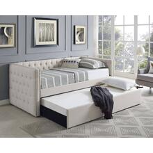 Ivory Linen Daybed and Trundle