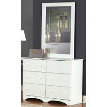 6 Drawer Narrow Dresser Weathered Gray Ash