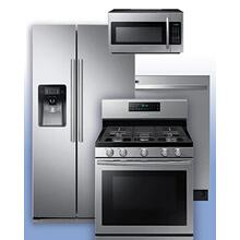 SAMSUNG - Get a Visa Reward Card for 10% off the purchase price of any Samsung 4-piece kitchen package. See Side-by-Side Refrigerator Gas Range Example.