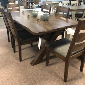 Coaster - Alston Rustic Nutmeg Dining Table W/ 6 Chairs