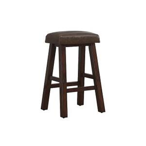 "American Heritage Billiards Saddle 26"" Stool in Suede Finish"