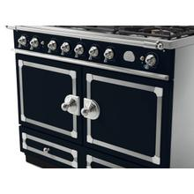 See Details - CornuFe 110 Induction Range - Dark Navy Blue with Stainless Steel and Satin Chrome Trim