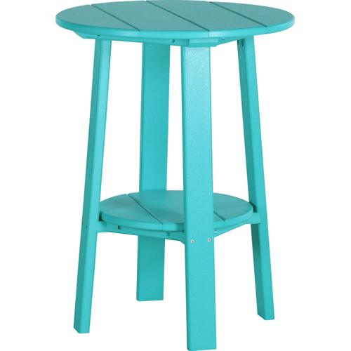 """Deluxe End Table 28"""" Aruba Blue"""