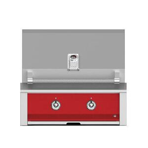 "Aspire By Hestan 30"" Built-In U-Burner Grill LP Matador Red"