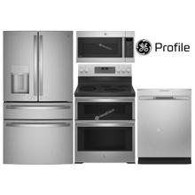 """GE Profile W/ 36"""" Counter-Depth 4 Door French Door W/ Slide-In Range"""