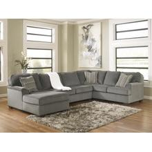 See Details - Loric - Smoke - 3-Piece Sectional with Left Facing Chaise