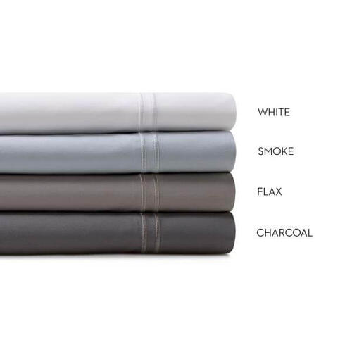 Woven Supima Cotton Sheet Set, Split Cal King, Charcoal