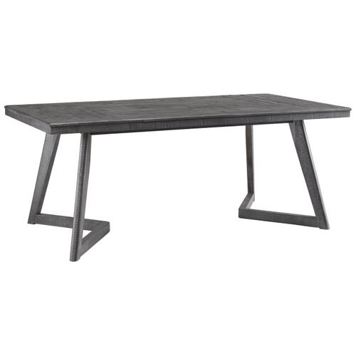 Besteneer - Dark Gray - 5 Pc. - Rectangular Table & 4 Upholstered Side Chairs