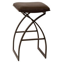 Backless, non-swivel bar stool.