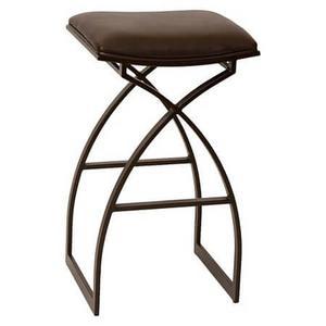 Backless, non-swivel bar stool.
