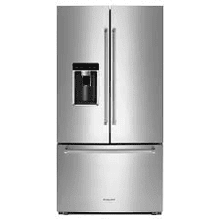 MOD # KRFC704FSS-DS1 S/N 1539 FIXED LEAK AND RHS REFER DOOR DENTED ON THE SIDE 23.8-cu ft Counter-Depth French Door Refrigerator with Ice Maker (Fingerprint-Resistant Stainless Steel)