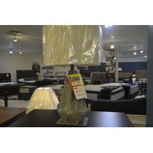 Product Image - Ashley Furniture grey diamond table lamp.