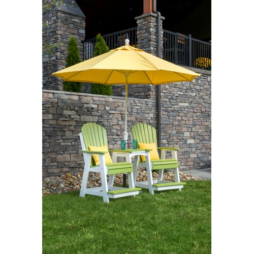 Adirondack Balcony Chair Weatherwood