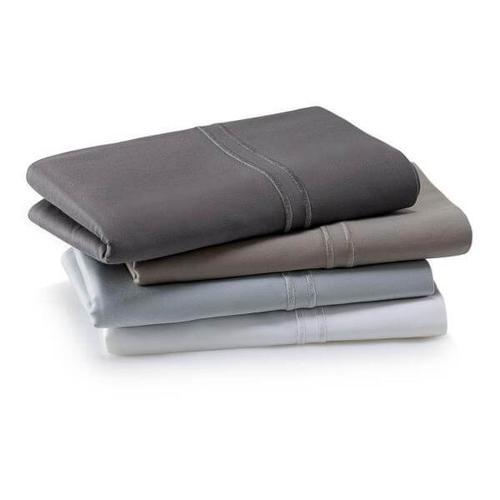 Woven Supima Cotton Pillowcase Set, King, Smoke