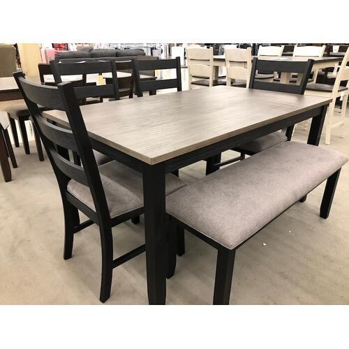 Elements - Martin DMT300 Dining Set - Table, Bench, 4 Side Chairs