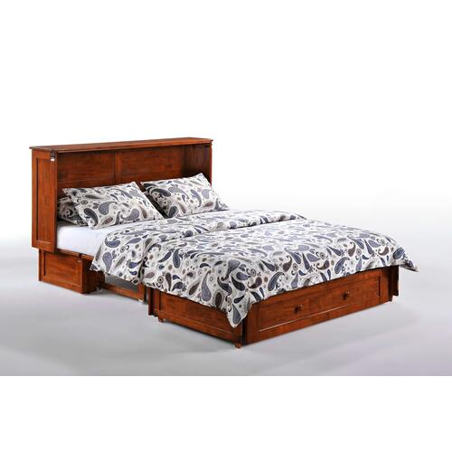 Clover Murphy Cabinet Bed in Cherry, Dark Chocolate, White Finish