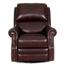 See Details - Mojave Leather Swivel Glider Recliner in Merlot