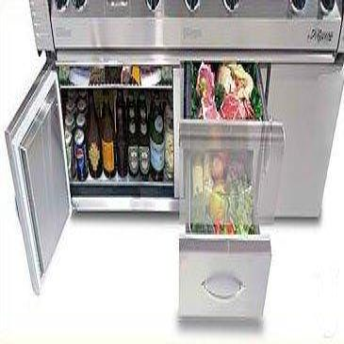 "Alfresco - 56"" Jumbo grill on Refrigerated Cart"