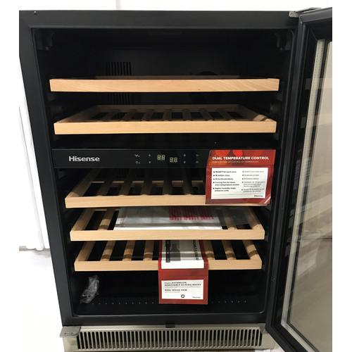Hisense - 46-bottle Freestanding or Built-in Dual Zone Stainless Steel Wine Cooler SUPPORT