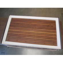 See Details - Shower tray with genuine teak insert