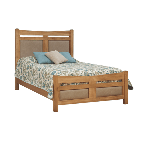 Queen Bed with Buffalo Leather